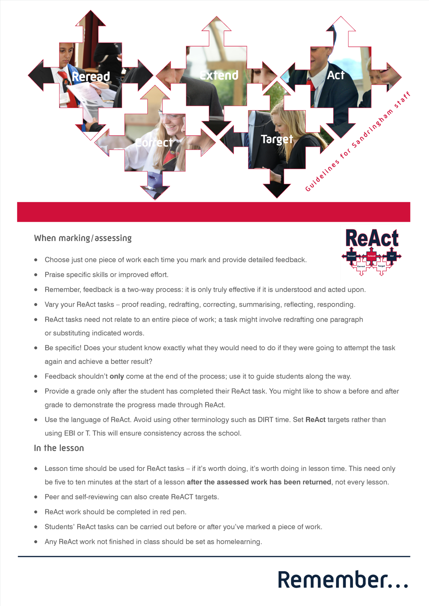 ReAct staff planner
